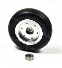 "1pcs 3.5"" Rubber Wheel Aluminum Hub with Wheel Adapter Rubber Tire For Model Aircraft RC Airplane"