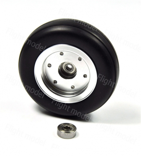 1pcs 3.5inch Rubber Wheel Aluminum Hub with Wheel Adapter Rubber Tire For Model Aircraft RC Airplane