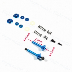 1set Aluminum alloy 4mm F3A Shock Absorbing Wheel Axle Speed Reducer Shock Absorber For Fixed Wing Aircraft