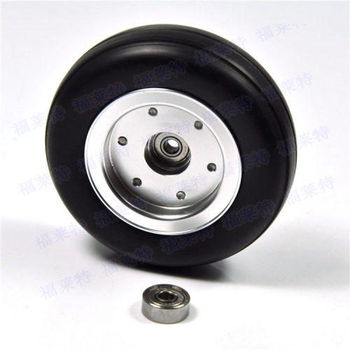 1pcs 2.75 inch Rubber Wheel With Aluminum Hub D70*H22mm Hole Diameter 4mm For RC Models