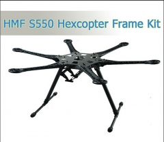 1 Set HMF S550 S550Pro Hexcopter Frame 6-Axis For FPV MiniS800 FPV KIT With Carbon Fiber Landing Gear Skid PCB Central Plate