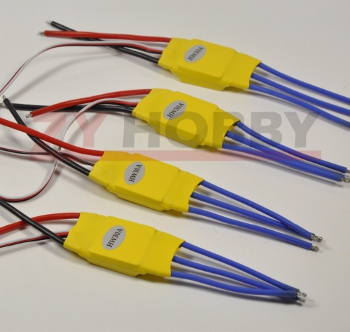 4pcs/lot ESC 30A Brushless 450 Helicopter Multicopter Motor ESC Speed Controller