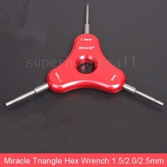 Miracle RC Hobby Accessory Aluminum Alloy Triangle Hex Wrench 1.5mm/2.0mm/2.5mm Zyhobby