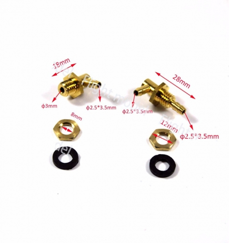 2.5mm Fuel Tank Outlets and Inlets Oil Nozzle kit
