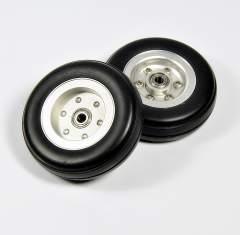 Best Rubber Tires Wheel with Aluminum Alloy Hub ( 2/2.5/3/3/3.5/4inch)