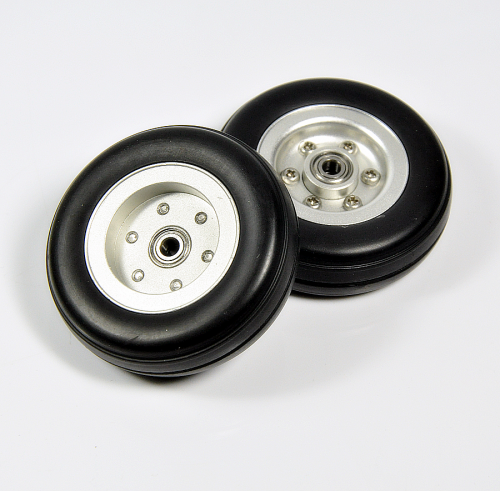 1pcs GeminiModel  2/ 2.5/ 3/ 3.5/ 4inch Rubber Tires Wheel with Aluminum Alloy Hub