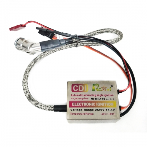 RCEXL Single Ignition CDI with 120 Degree Cap for NGK CM6 10mm Plug