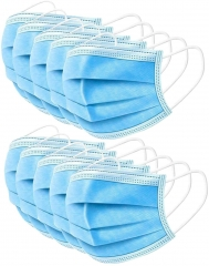 3 Layer Disposable Medical Masks Face Mask Breathable Mouth Cover Muffle for Dust / Virus Protection Medical Mask