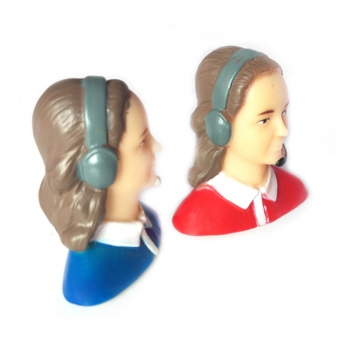 1/9 Scale Female Pilot Figure  L35*W25*H39mm