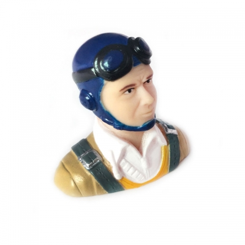 1/9 Scale Pilots Figure Blue Hat L40*W23*H39mm