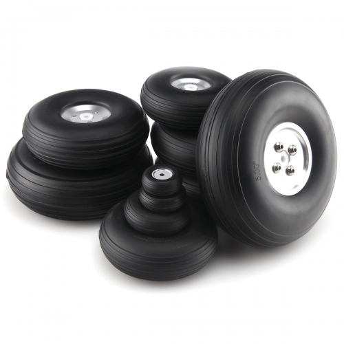 1 pair PU wheel with Dia-Casting Aluminum Hub 1~8.5inch for Choose