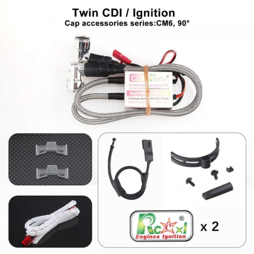 RCEXL Twin Ignition with 90 Degree Cap for NGK CM6 10mm Plug US stock