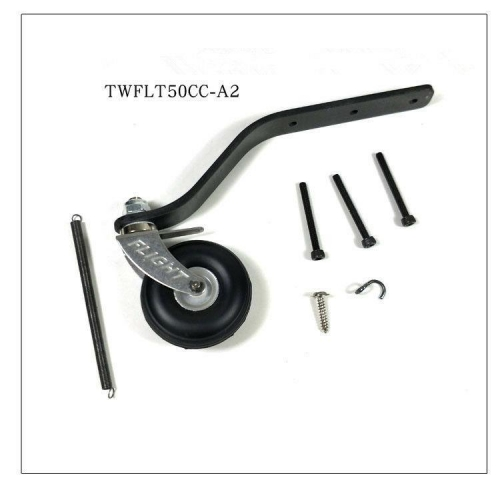 Carbon Fiber Tail Wheel w/ 1.5inch PU Wheel For RC 50-60CC Airplane us stock