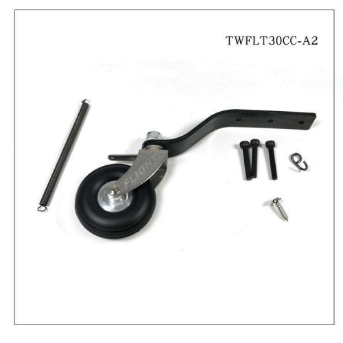 Carbon Fiber Tail Wheel 1.5inch PU Wheel and Screw for RC 30cc Airplane US stock