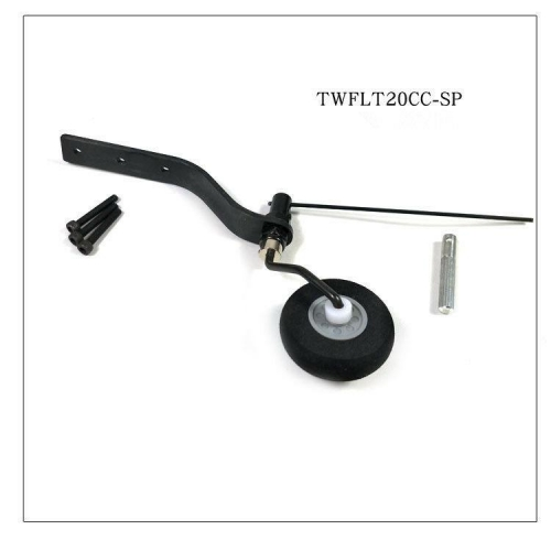 Carbon Fiber Tail Wheel Set w/ 30mm Sponge Wheel for 20cc Plane US stock