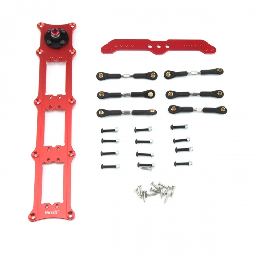 Miracle Anodized Servo Triple Rudder Tray KIT with 5inch Double Arm